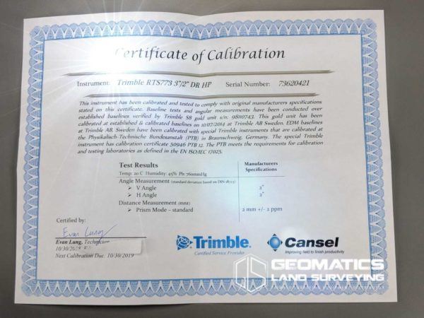 Trimble-RTS-773-calibration